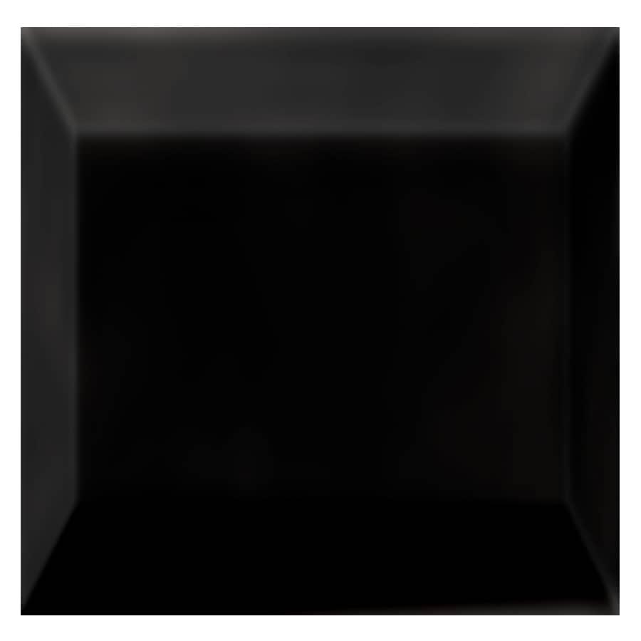 Interceramic Essentials Black Ceramic Listello Tile (Common: 3-in x 3-in; Actual: 2.95-in x 2.95-in)