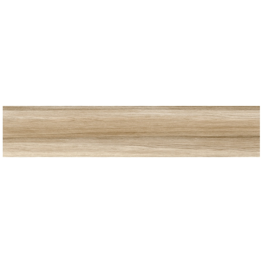 Interceramic Trio Legno 11-Pack Vanilla Wood Look Porcelain Floor Tile (Common: 6-in x 24-in; Actual: 5.9-in x 23.62-in)