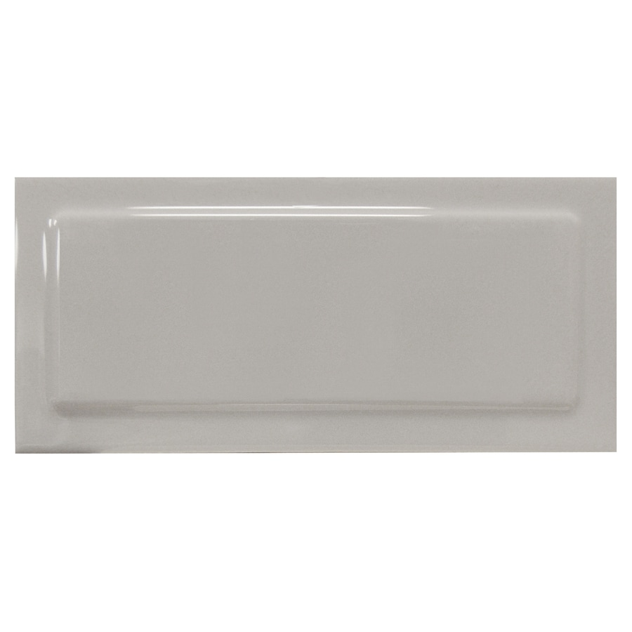 Interceramic Up and Down 62-Pack Dark Gray Up Ceramic Wall Tile (Common: 3-in x 6-in; Actual: 2.95-in x 6-in)