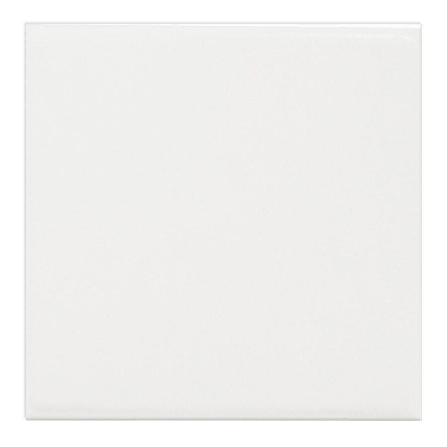 Interceramic Brick 80-Pack White Embossed Ceramic Wall Tile (Common: 4-in x 4-in; Actual: 4.27-in x 4.27-in)