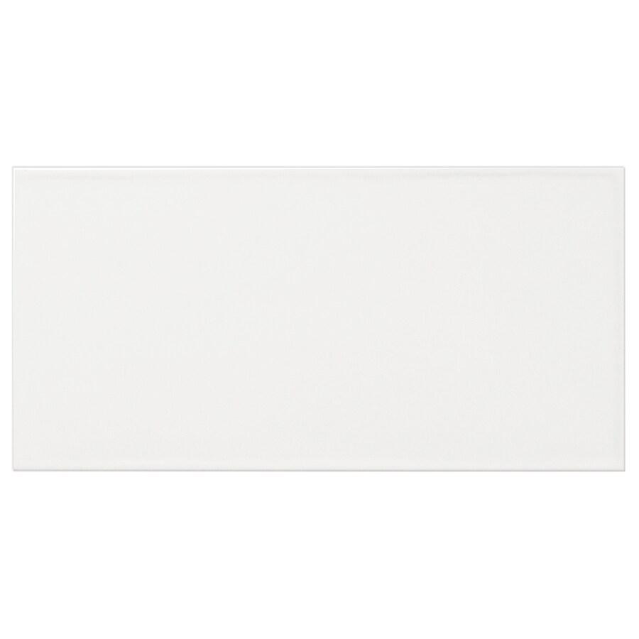 Interceramic Brick 32-Pack White Debossed Ceramic Wall Tile (Common: 4-in x 8-in; Actual: 4.24-in x 8.48-in)