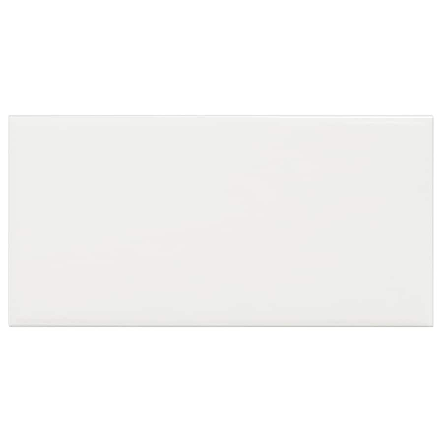 Interceramic Brick 32-Pack White Embossed Ceramic Wall Tile (Common: 4-in x 8-in; Actual: 4.24-in x 8.48-in)