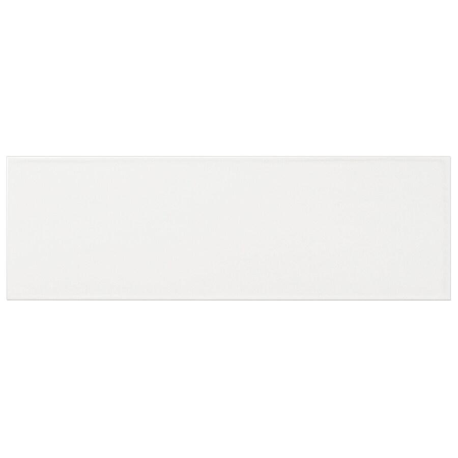 Interceramic Brick 40-Pack White Debossed Ceramic Wall Tile (Common: 4-in x 12-in; Actual: 4.29-in x 12.89-in)
