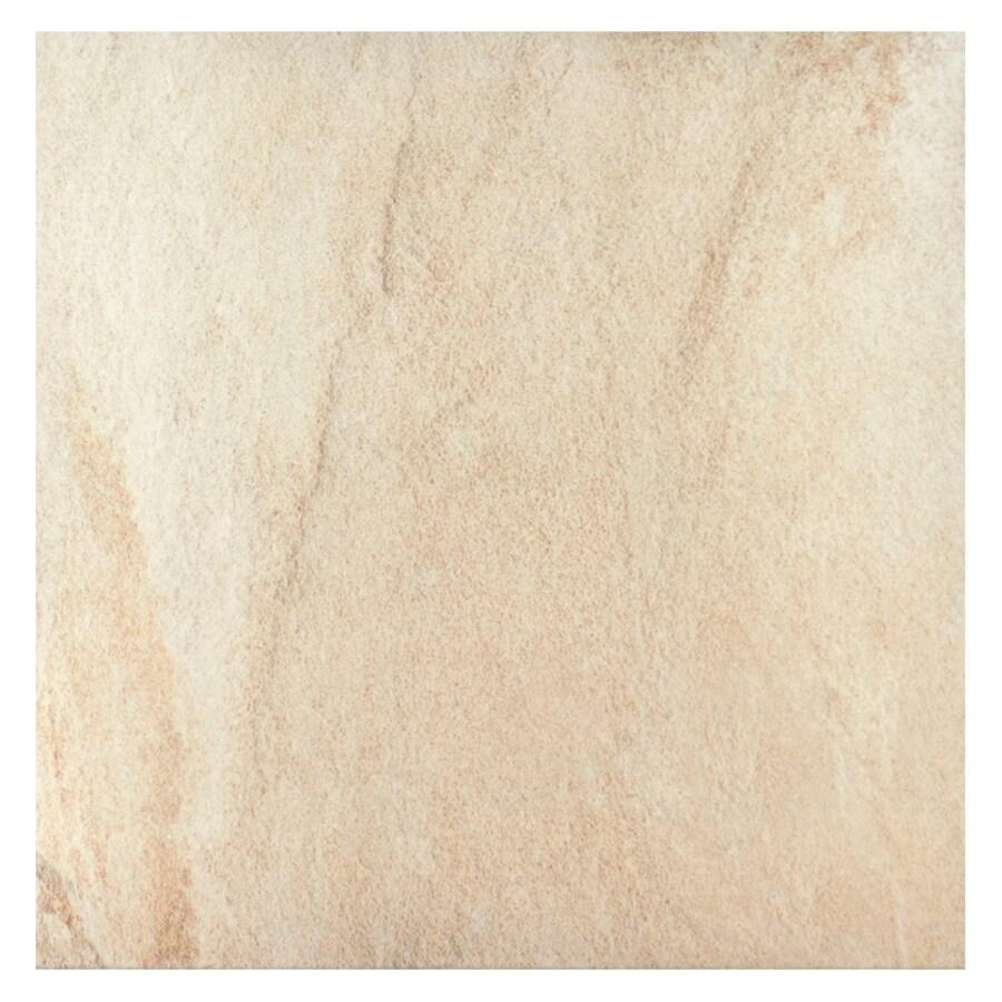 Interceramic Sunset Beige Ceramic Floor Tile (Common: 16-in x 16-in; Actual: 15.74-in x 15.74-in)