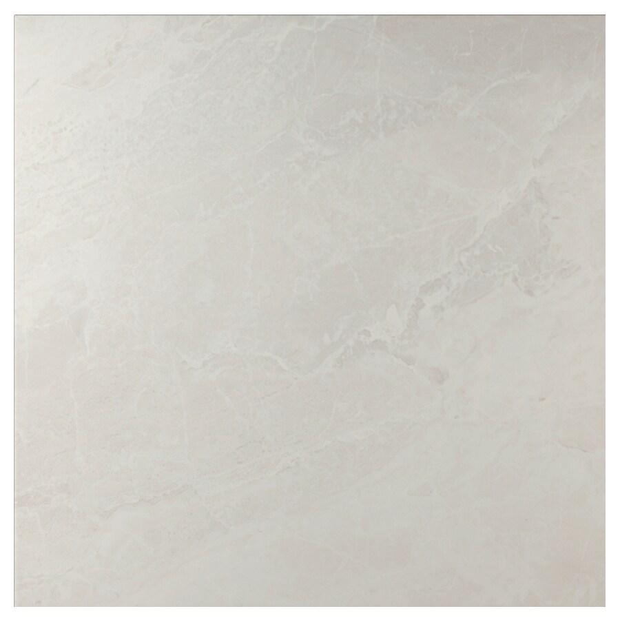 Interceramic Vesubio Ivory Ceramic Floor Tile (Common: 20-in x 20-in; Actual: 19.63-in x 19.63-in)