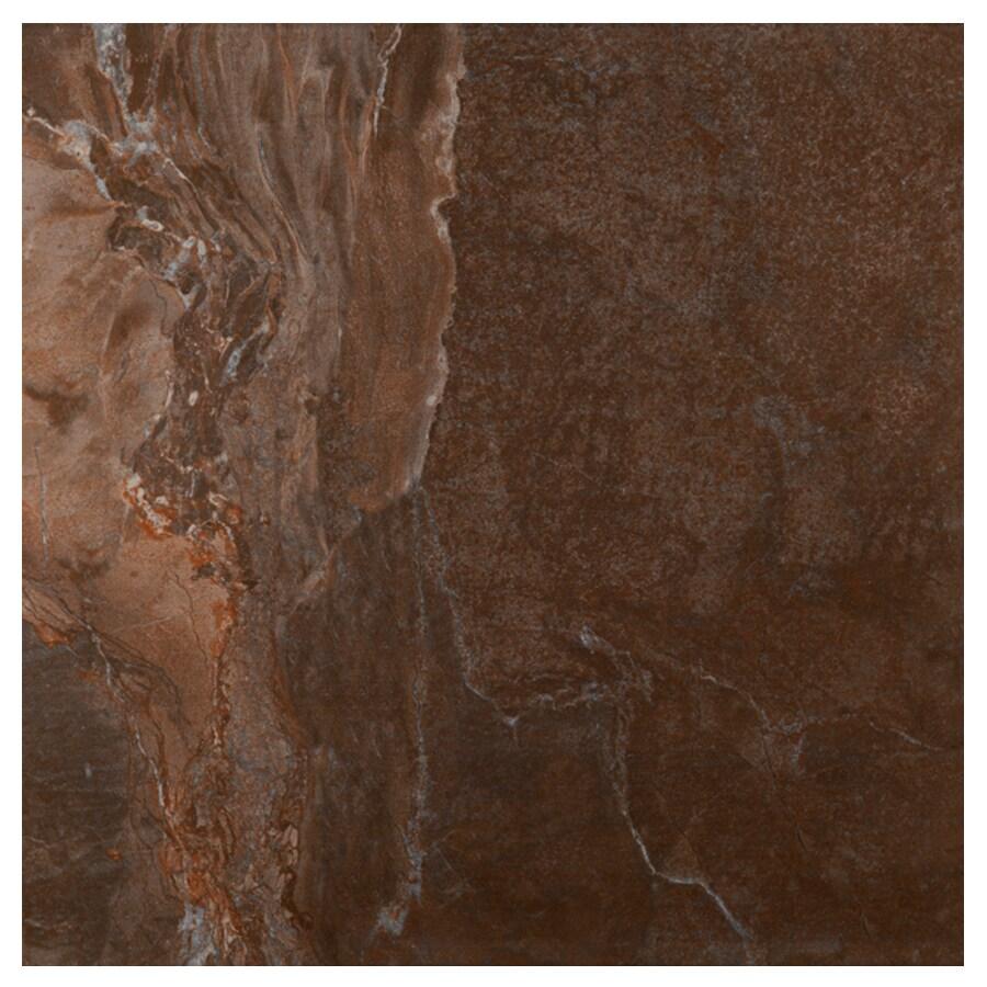 Interceramic Vesubio Brown Ceramic Floor Tile (Common: 20-in x 20-in; Actual: 19.63-in x 19.63-in)