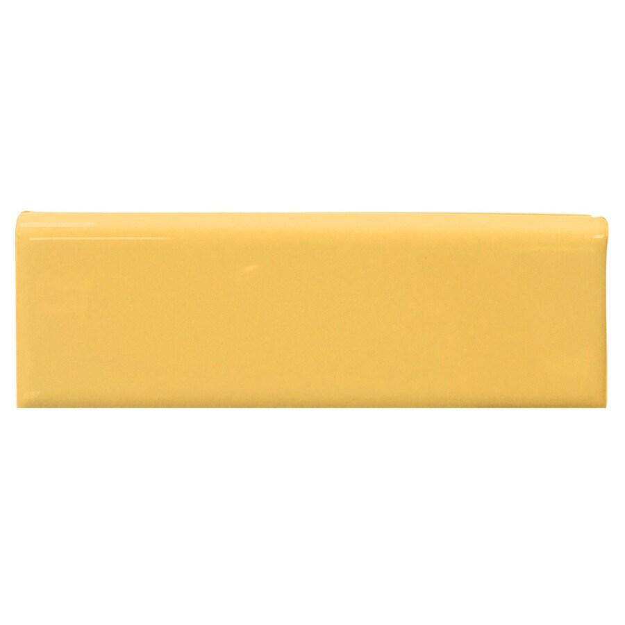 Interceramic Goldenrod Ceramic Bullnose Tile (Common: 2-in x 6-in; Actual: 2-in x 5.98-in)