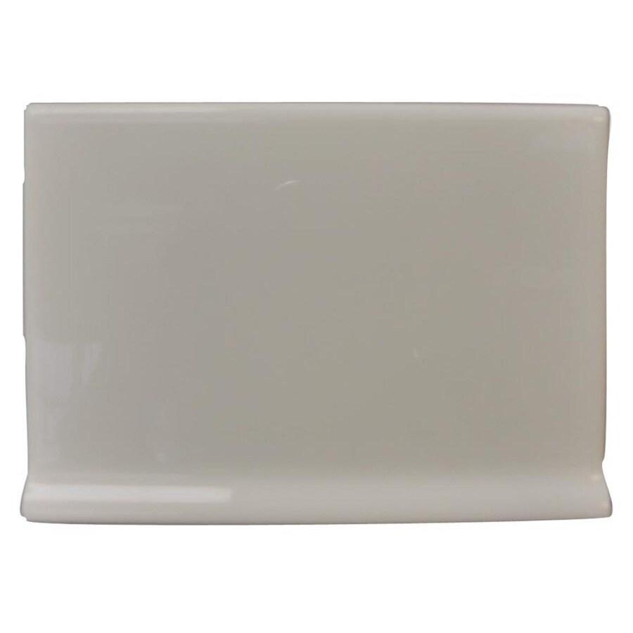 Interceramic Dark Gray Ceramic Cove Base Tile (Common: 4-in x 6-in; Actual: 4.25-in x 6-in)