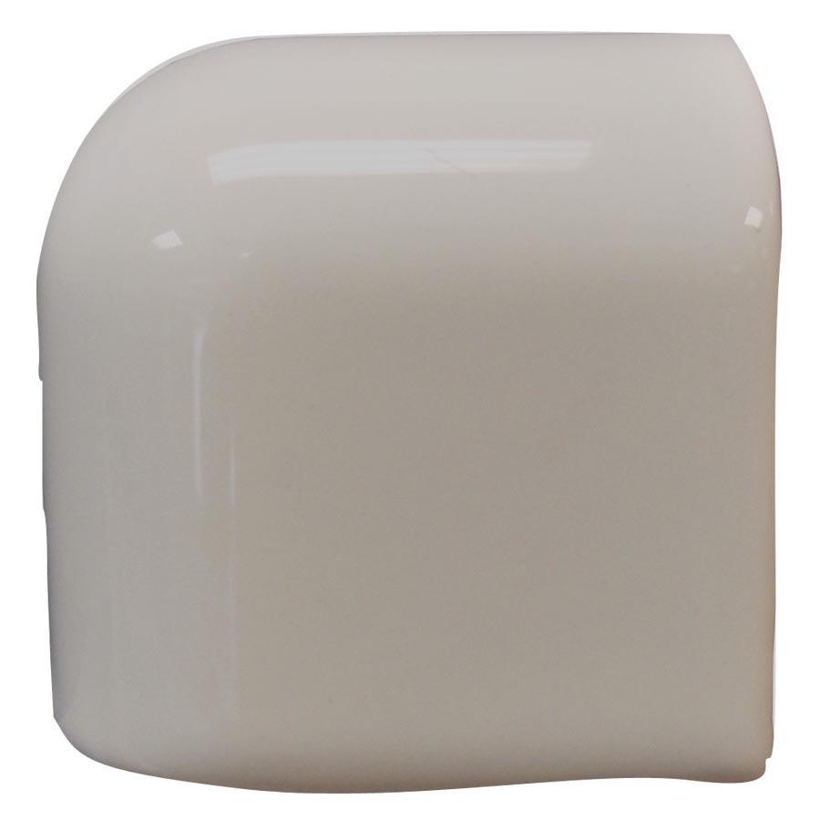 Interceramic Dark Gray Ceramic Mud Cap Corner Tile (Common: 2-in x 2-in; Actual: 2-in x 2-in)