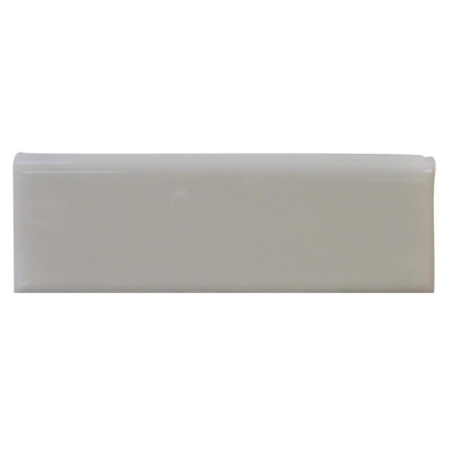 Interceramic Dark Gray Ceramic Bullnose Tile (Common: 2-in x 6-in; Actual: 2-in x 5.98-in)