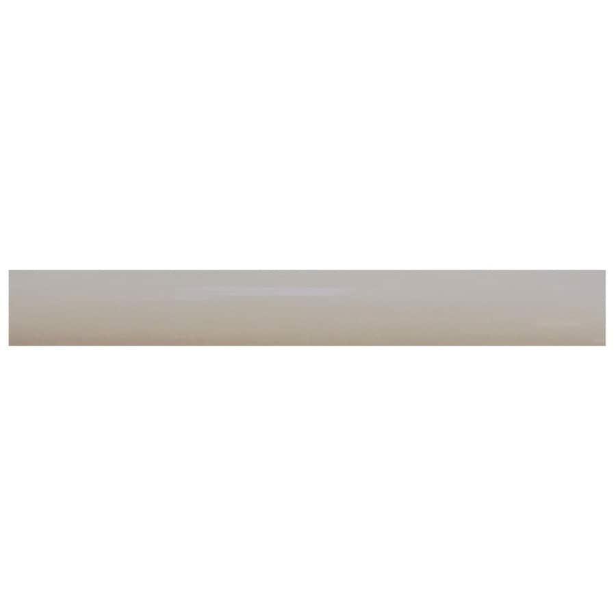 Interceramic Decorative Accents Dark Gray Ceramic Pencil Liner Tile (Common: 1/2-in x 8-in; Actual: 0.48-in x 7.85-in)
