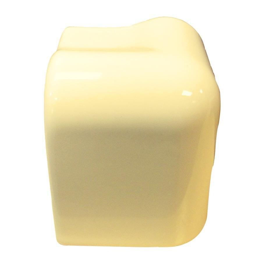 Interceramic Almond Ceramic Bullnose Tile (Common: 2-1/2-in x 2-1/2-in; Actual: 2.13-in x 2.13-in)