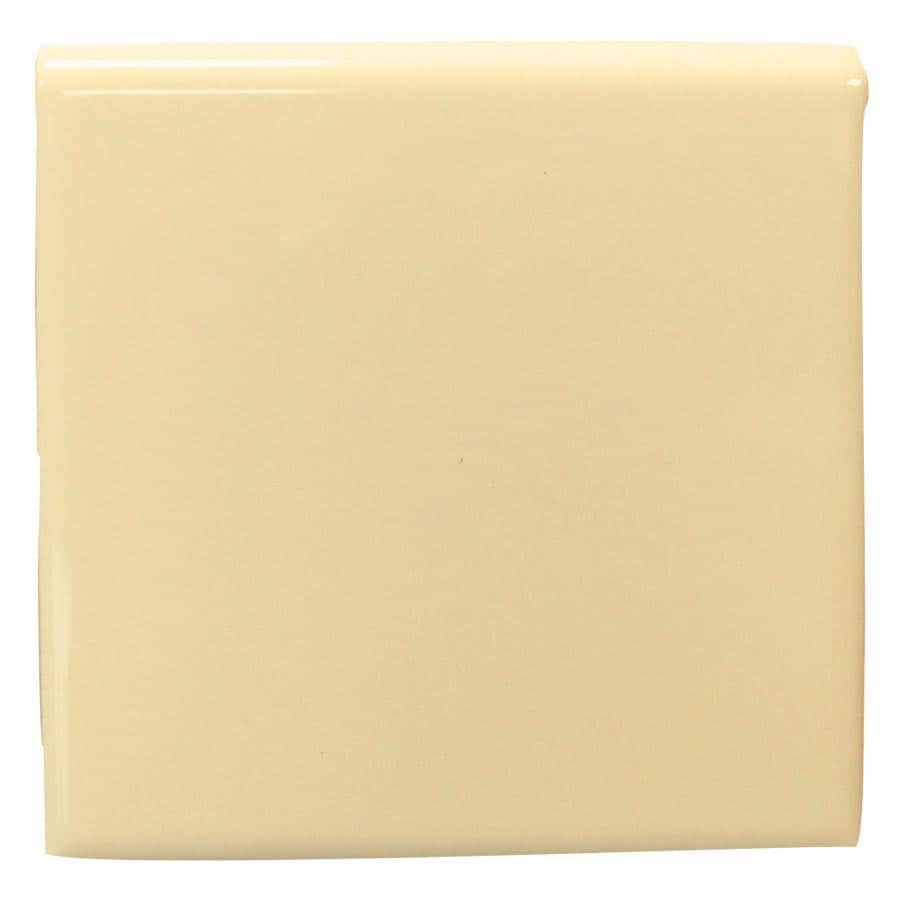 Interceramic Almond Ceramic Bullnose Tile (Common: 4-in x 4-in; Actual: 4.24-in x 4.24-in)