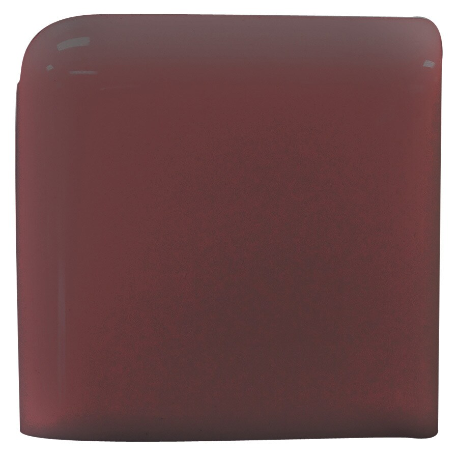 Interceramic Plum Ceramic Bullnose Tile (Common: 2-in x 2-in; Actual: 2-in x 2-in)