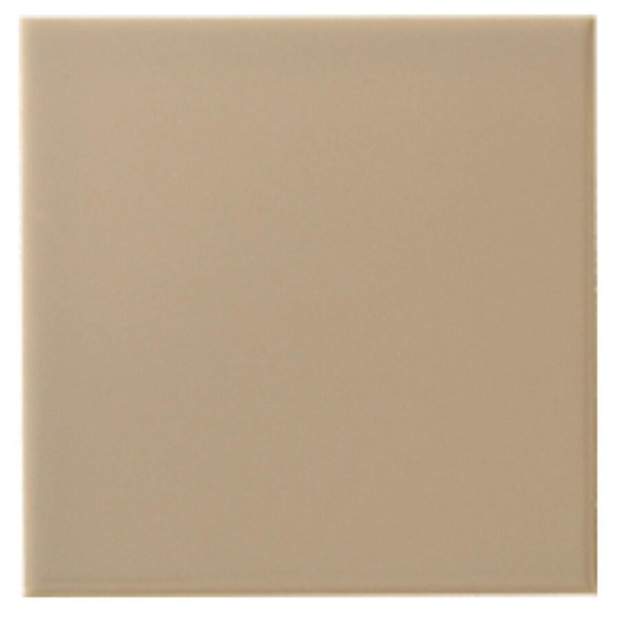 Interceramic Wall 80-Pack Cocoa Ceramic Wall Tile (Common: 4-in x 4-in; Actual: 4.24-in x 4.24-in)