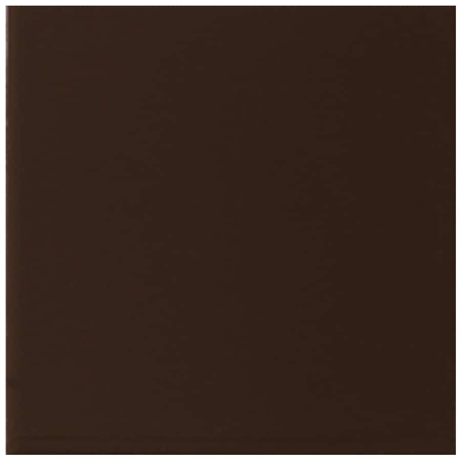 Interceramic Wall 80-Pack Deep Brown Ceramic Wall Tile (Common: 4-in x 4-in; Actual: 4.24-in x 4.24-in)