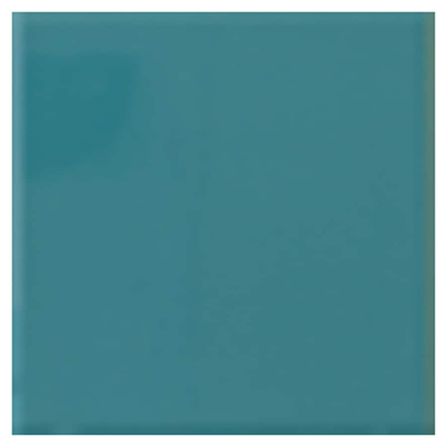 Interceramic Wall 80-Pack Gulf Blue Ceramic Wall Tile (Common: 4-in x 4-in; Actual: 4.24-in x 4.24-in)