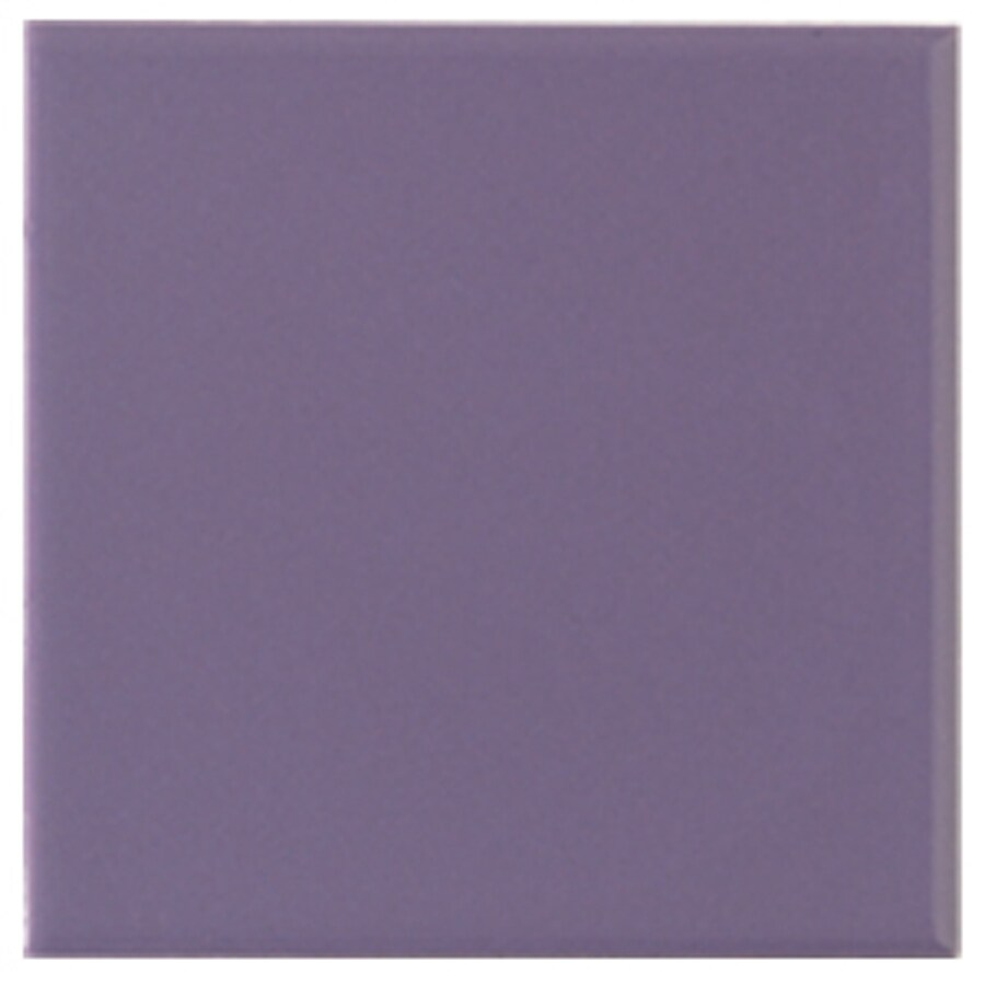 Interceramic Wall 80-Pack Lilac Ceramic Wall Tile (Common: 4-in x 4-in; Actual: 4.24-in x 4.24-in)