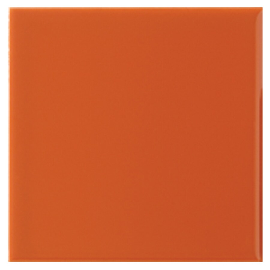 Interceramic Wall 80-Pack Orange Clay Ceramic Wall Tile (Common: 4-in x 4-in; Actual: 4.24-in x 4.24-in)