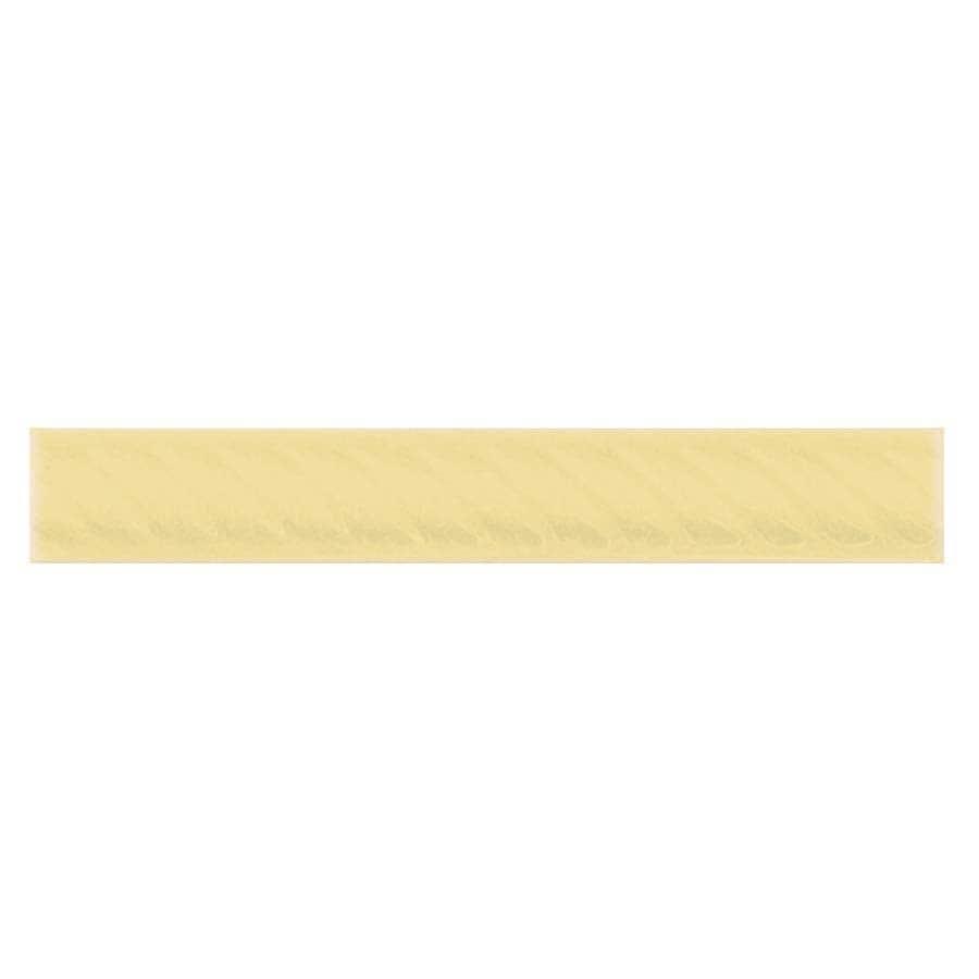 Interceramic Decorative Accents Almond Ceramic Pencil Liner Tile (Common: 1-in x 8-in; Actual: 1.17-in x 7.83-in)