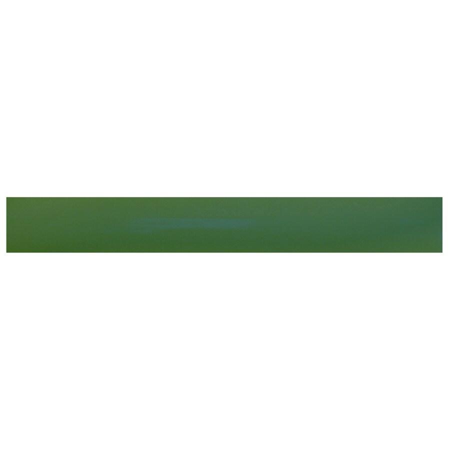 Interceramic Decorative Accents Evergreen Ceramic Pencil Liner Tile (Common: 1/2-in x 8-in; Actual: 0.48-in x 7.85-in)