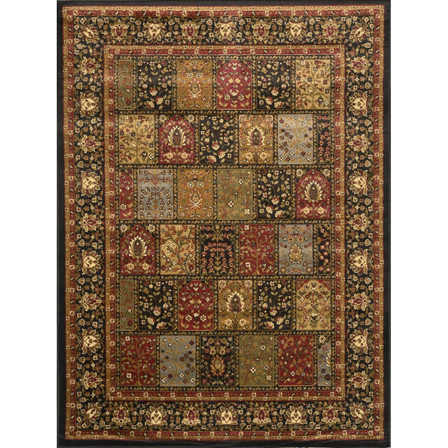 Home Dynamix Royalty Black Rectangular Indoor Woven Throw Rug (Common: 4 x 6; Actual: 43-in W x 62-in L)