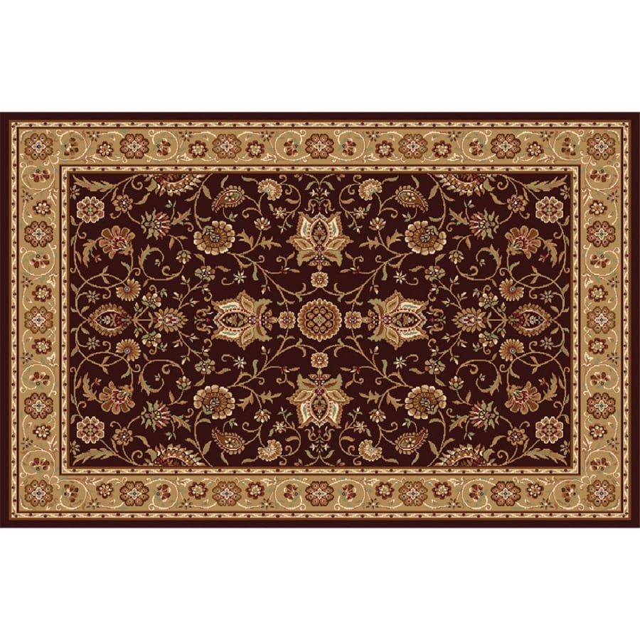 Home Dynamix Rome Brown and Gold Rectangular Indoor Woven Area Rug (Common: 8 x 10; Actual: 94-in W x 122-in L)