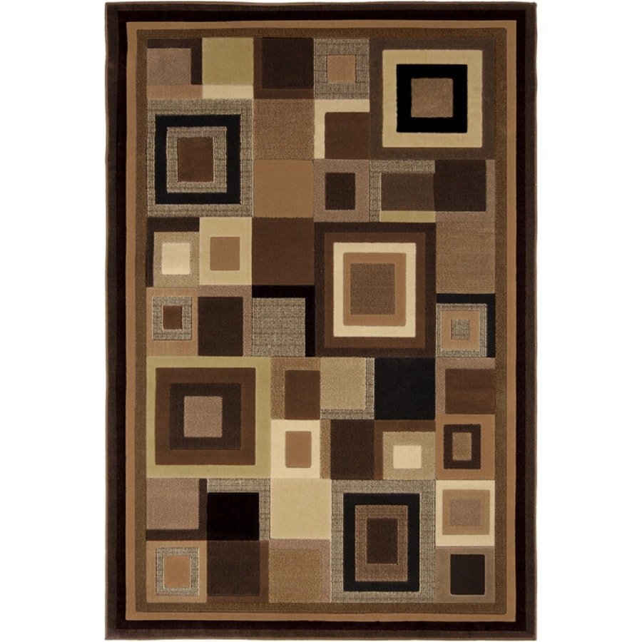 Home Dynamix Catalina Black and Brown Rectangular Indoor Woven Area Rug (Common: 8 x 10; Actual: 94-in W x 125-in L)