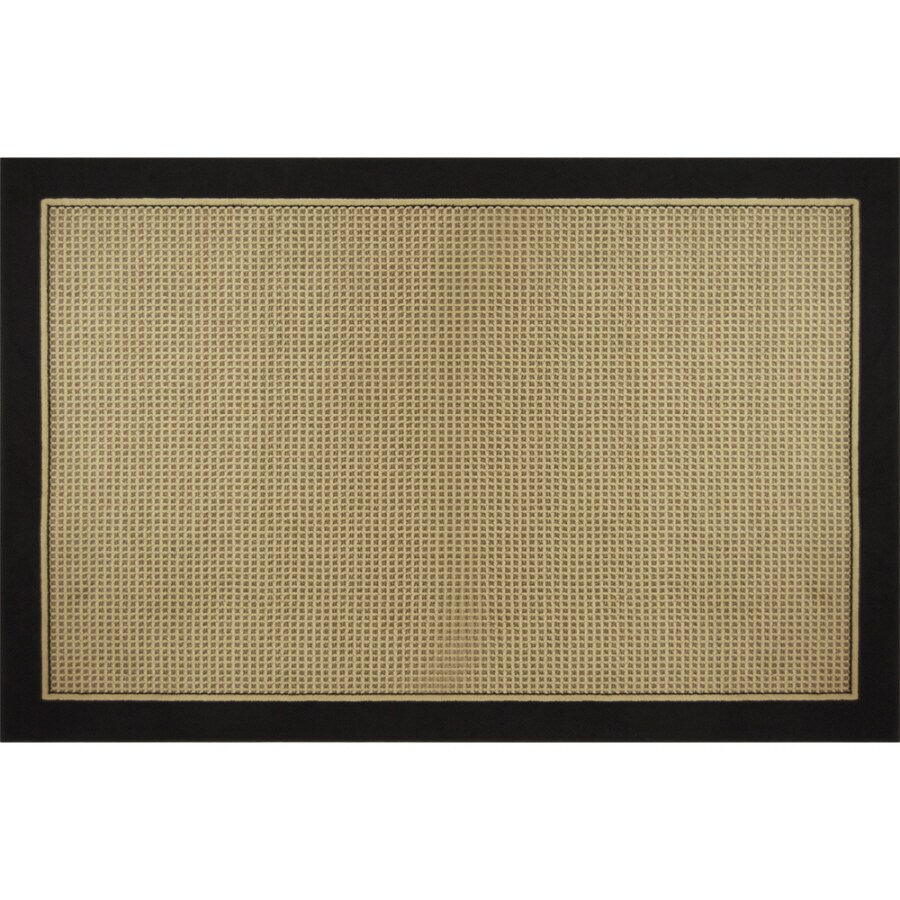 Home Dynamix Classic Black Rectangular Indoor Woven Area Rug (Common: 5 x 8; Actual: 62-in W x 84-in L)