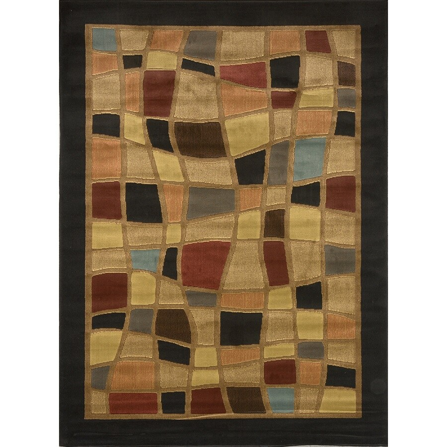 Home Dynamix Catalina Black Rectangular Indoor Woven Area Rug (Common: 5 x 8; Actual: 63-in W x 91-in L)