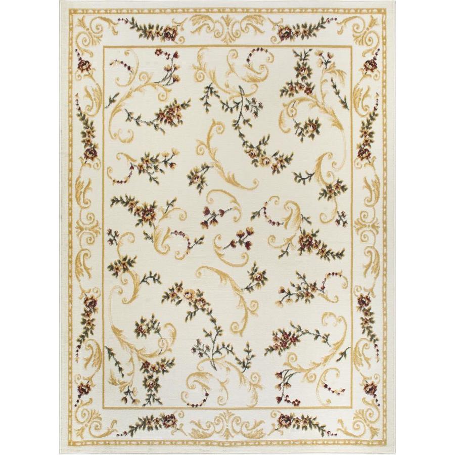 Home Dynamix Geneva Ivory Rectangular Indoor Woven Area Rug (Common: 5 x 8; Actual: 62-in W x 86-in L)