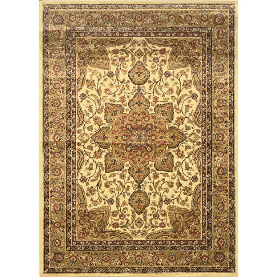 Home Dynamix Royalty Ivory Rectangular Indoor Woven Throw Rug (Common: 4 x 6; Actual: 43-in W x 62-in L)
