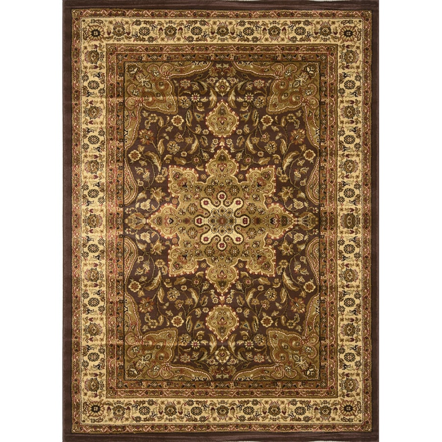Home Dynamix Royalty Brown Rectangular Indoor Woven Area Rug (Common: 5 x 8; Actual: 62-in W x 86-in L)