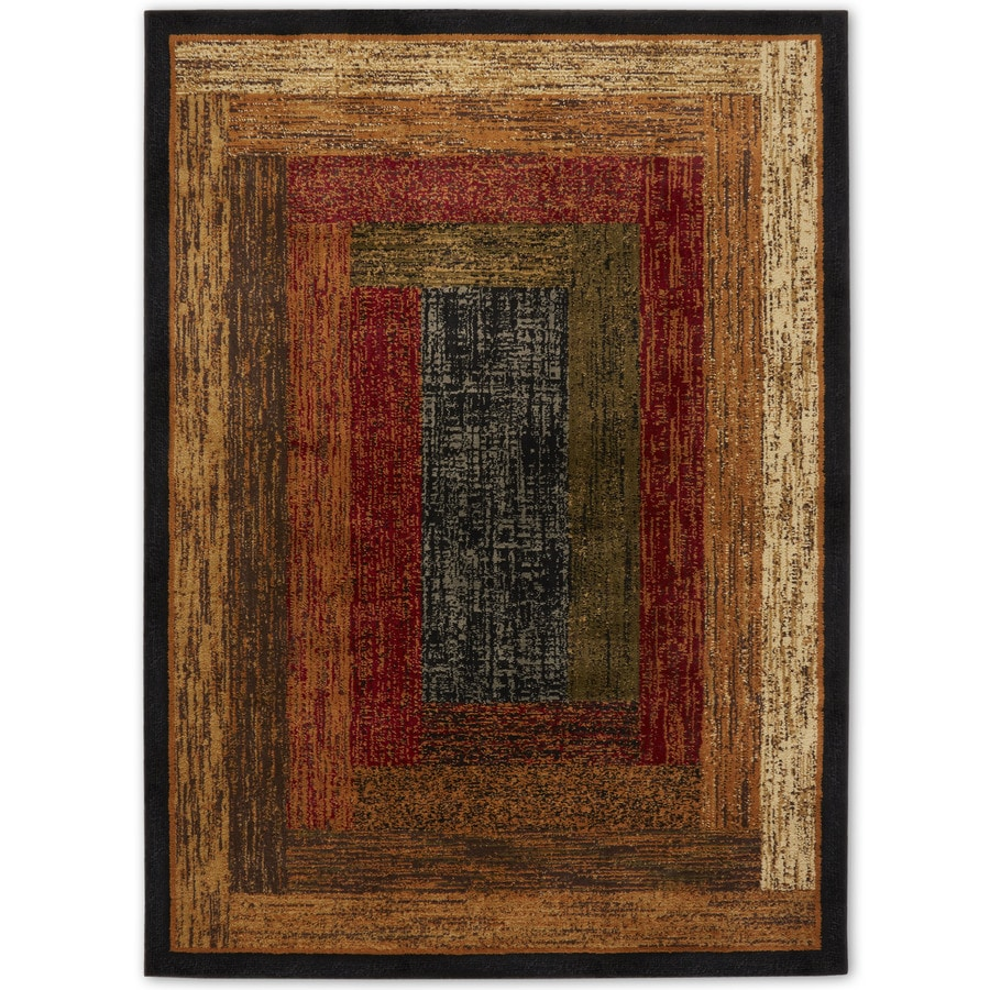 Home Dynamix Royalty Black Rectangular Indoor Woven Area Rug (Common: 4 x 6; Actual: 62-in W x 86-in L)