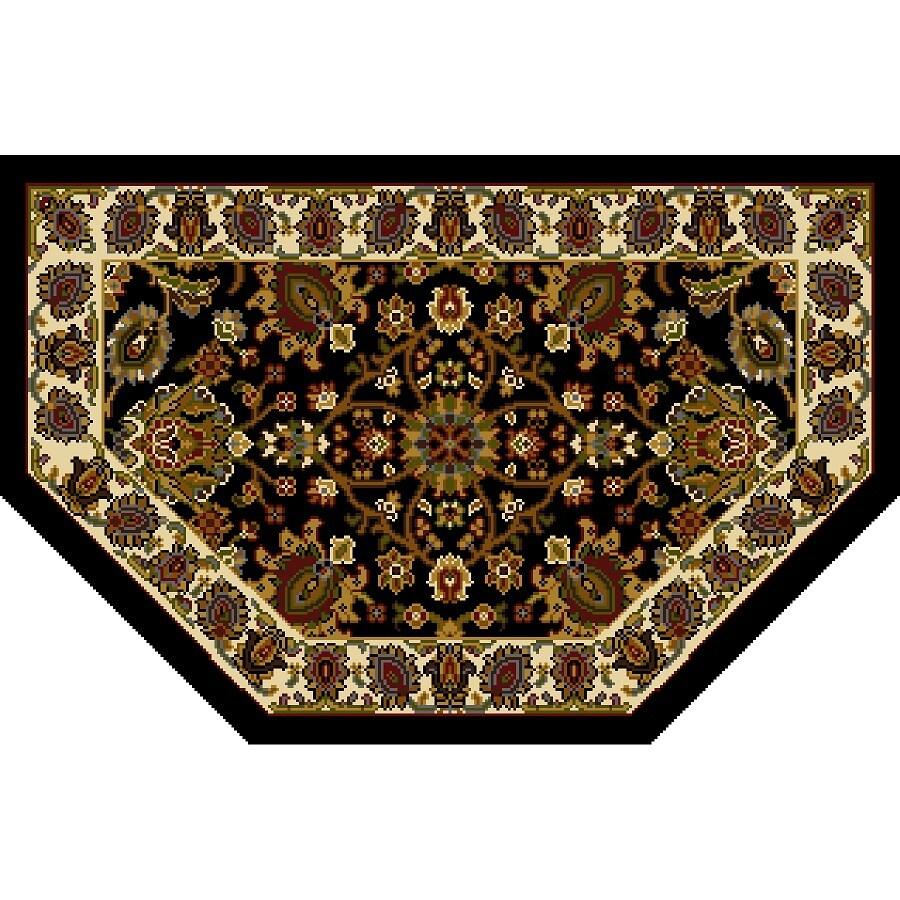 Home Dynamix Paris Black Hexagonal Indoor Woven Throw Rug (Common: 2 x 3; Actual: 23.6-in W x 39.3-in L)