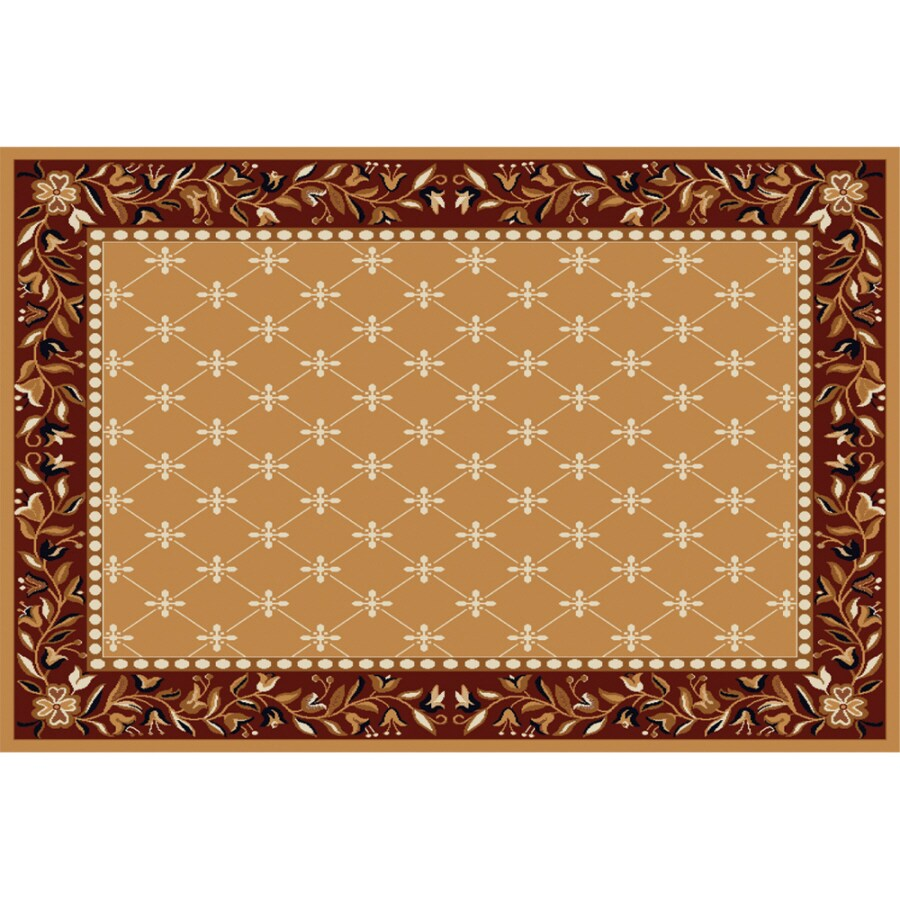 Home Dynamix London Sand Rectangular Indoor Woven Area Rug (Common: 8 x 10; Actual: 92-in W x 127-in L)