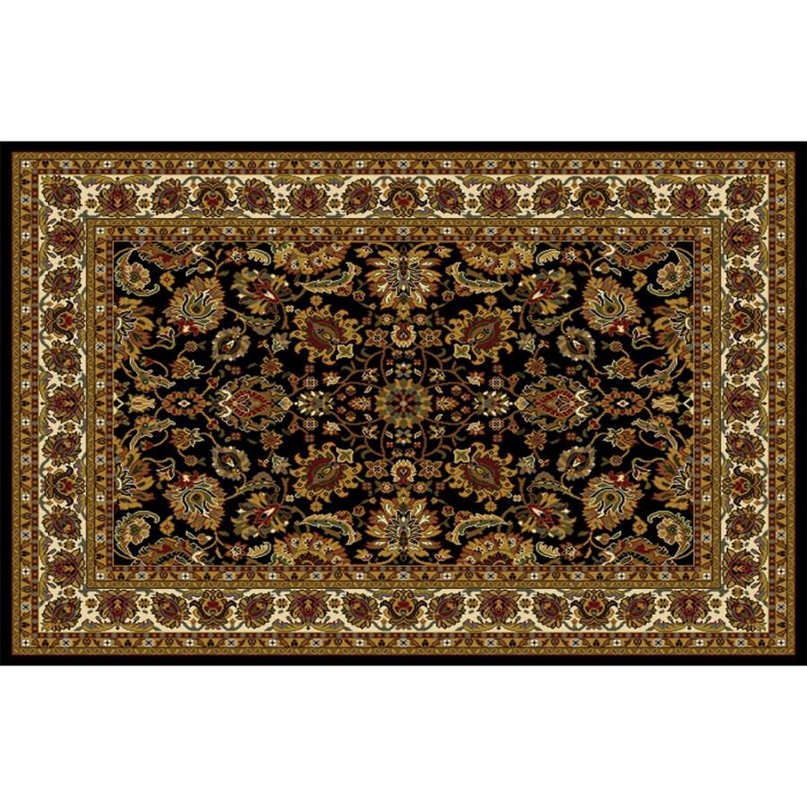 Home Dynamix Paris Black Rectangular Indoor Woven Area Rug (Common: 5 x 8; Actual: 62-in W x 86-in L)