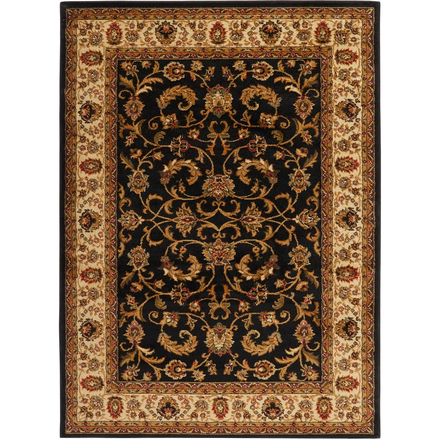 Home Dynamix Royalty Black and Ivory Rectangular Indoor Woven Area Rug (Common: 8 x 10; Actual: 92-in W x 124-in L)