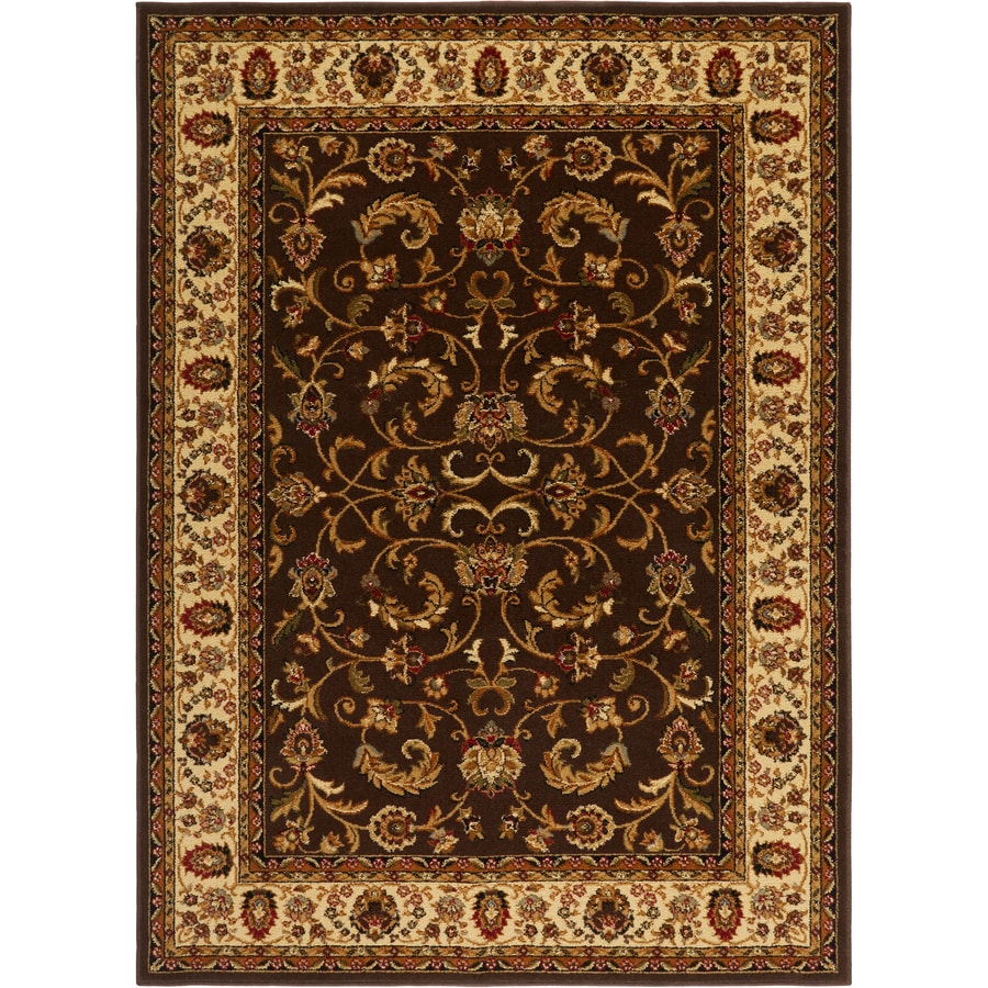 Home Dynamix Royalty Brown and Ivory Rectangular Indoor Woven Area Rug (Common: 8 x 10; Actual: 92-in W x 124-in L)