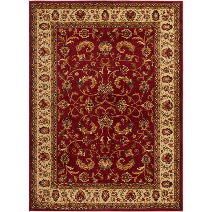 Home Dynamix Royalty Red and Ivory Rectangular Indoor Woven Area Rug (Common: 5 x 8; Actual: 62-in W x 86-in L)