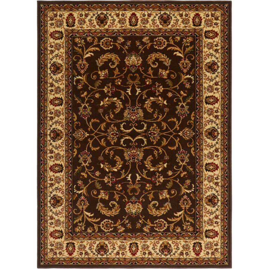 Home Dynamix Royalty Brown and Ivory Rectangular Indoor Woven Throw Rug (Common: 4 x 6; Actual: 43-in W x 62-in L)
