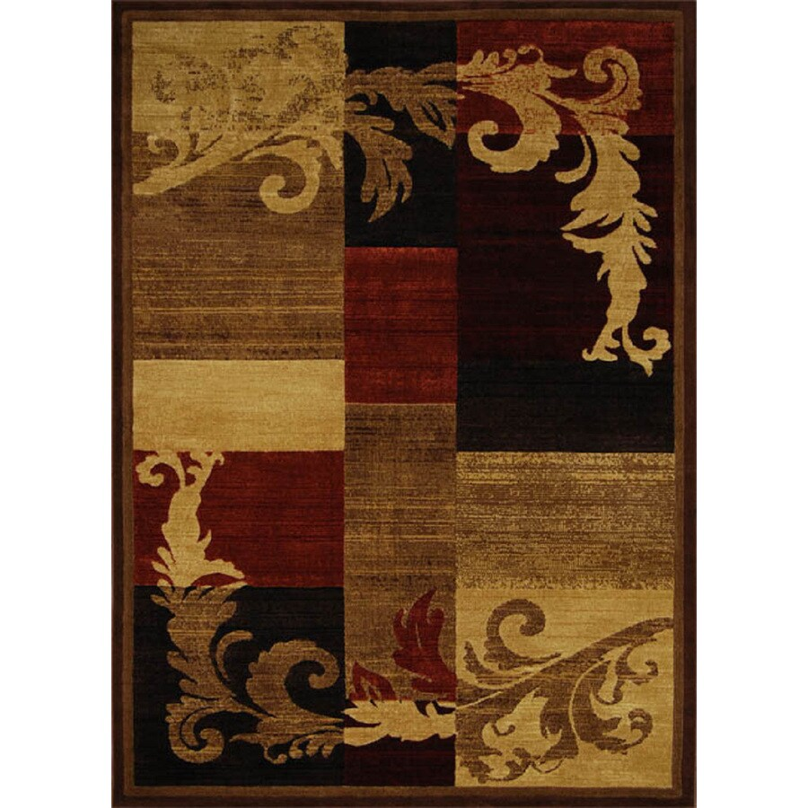Home Dynamix Catalina Brown and Red Rectangular Indoor Woven Area Rug (Common: 5 x 8; Actual: 63-in W x 91-in L)
