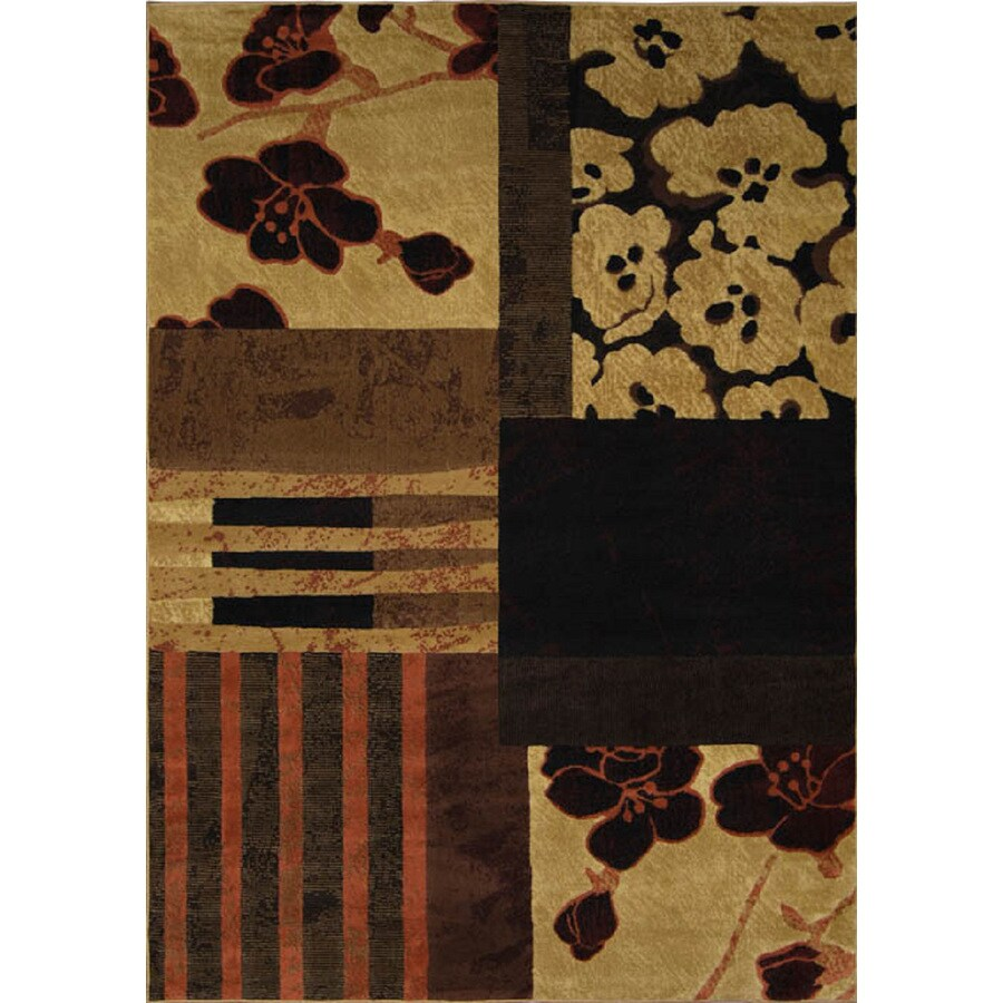 Home Dynamix Catalina Brown and Multicolor Rectangular Indoor Woven Throw Rug (Common: 4 x 6; Actual: 39-in W x 62-in L)