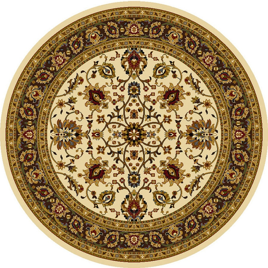 Home Dynamix Paris Ivory Round Indoor Woven Area Rug (Common: 7 x 7; Actual: 94-in W x 94-in L)