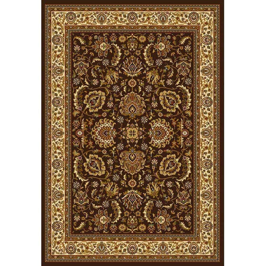 Home Dynamix Brussels Brown and Ivory Rectangular Indoor Woven Area Rug (Common: 5 x 7; Actual: 86-in W x 62-in L)