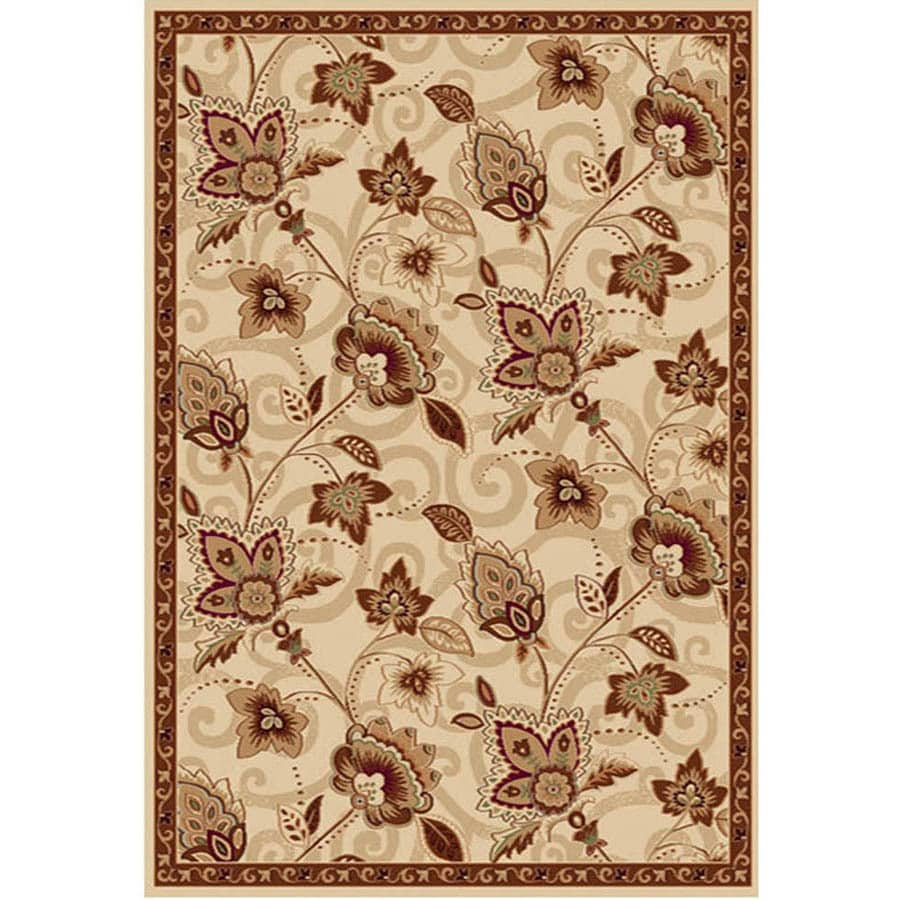 Home Dynamix Lisbon Ivory and Gold Rectangular Indoor Woven Area Rug (Common: 8 x 10; Actual: 94-in W x 122-in L)