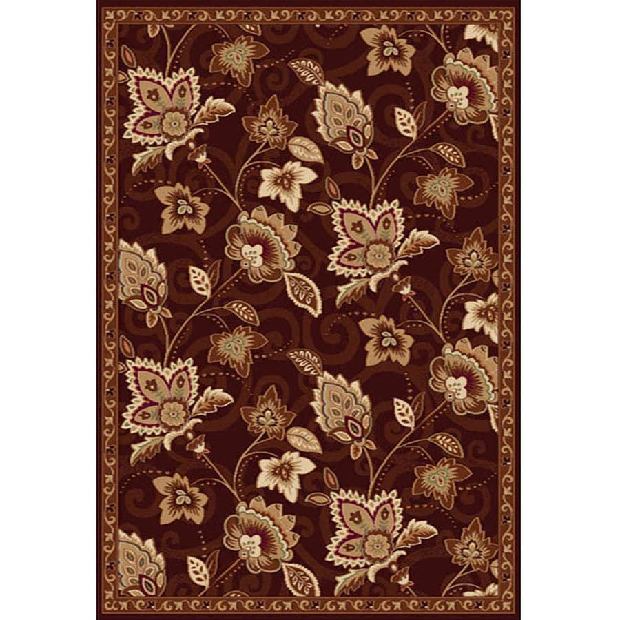 Home Dynamix Lisbon Brown Rectangular Indoor Woven Area Rug (Common: 8 x 10; Actual: 94-in W x 122-in L)