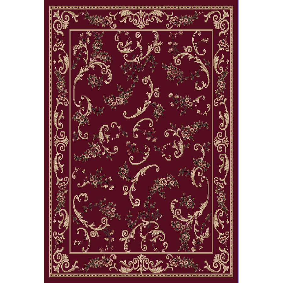 Home Dynamix Geneva Red Rectangular Indoor Woven Area Rug (Common: 5 x 7; Actual: 62-in W x 86-in L)