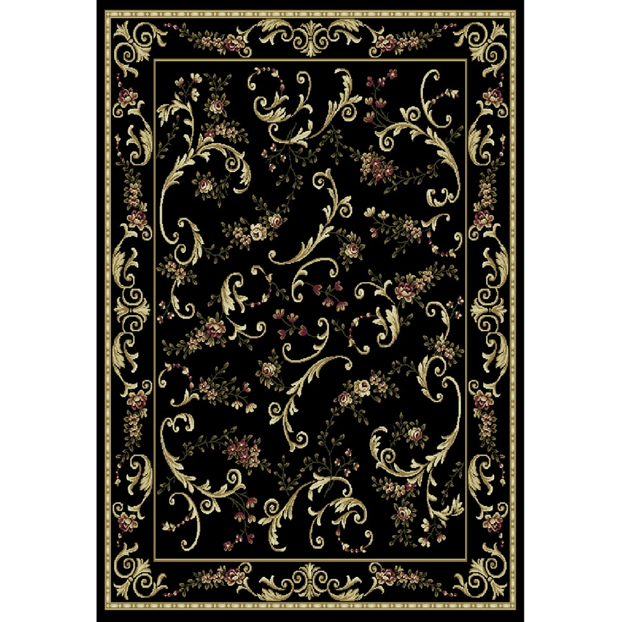 Home Dynamix Geneva Black Rectangular Indoor Woven Area Rug (Common: 5 x 7; Actual: 62-in W x 86-in L)