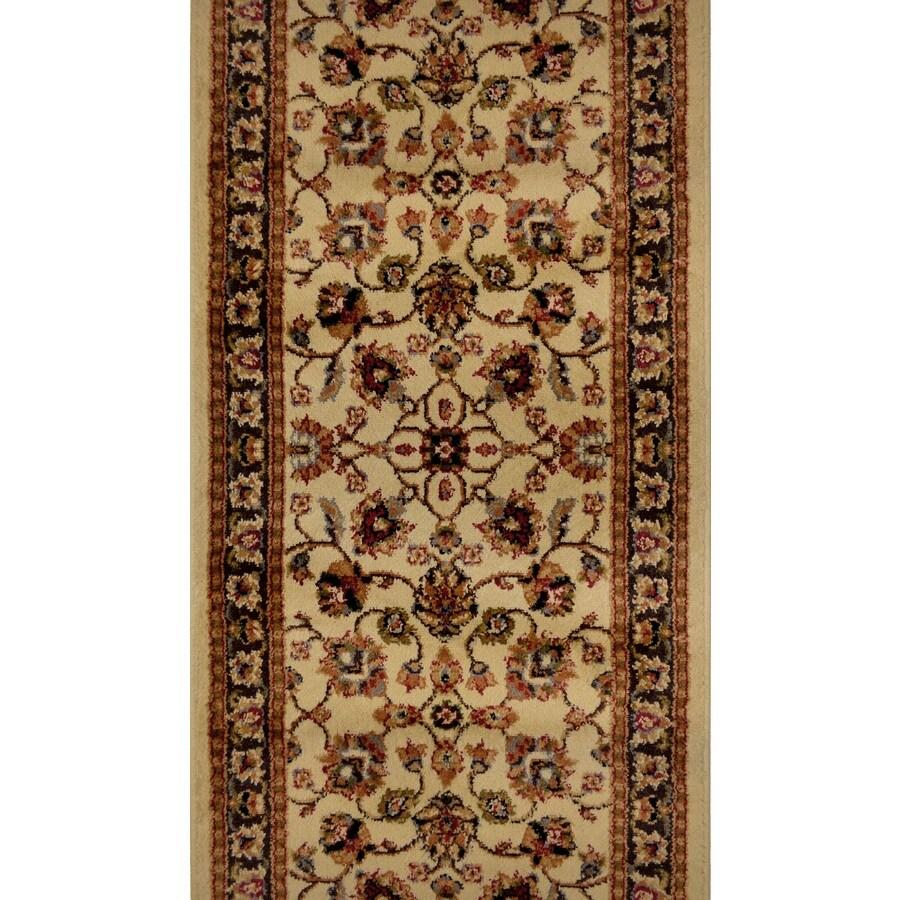 Home Dynamix Paris Ivory Rectangular Indoor Woven Runner (Common: 2 x 30; Actual: 27-in W x 348-in L)